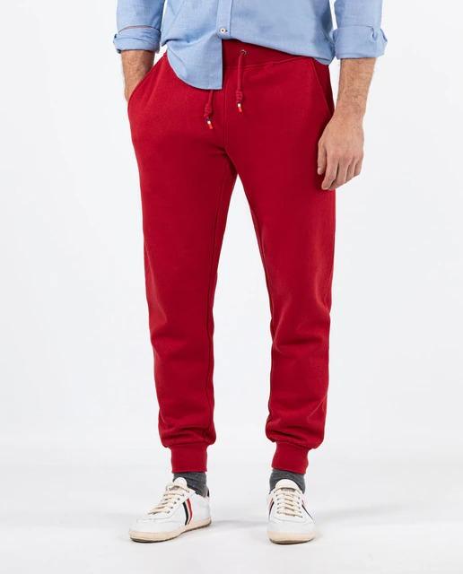 Pantalón jogger de hombre regular en color rojo