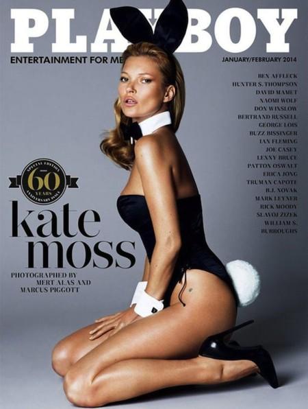 """Kate Moss es la """"conejita"""" para Playboy en su portada del 60 aniversario"""