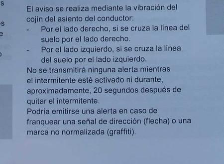 Pagina 209 del manual de instrucciones del DS4 describiendo el funcionamiento de la alerta de cambio involuntario de carril