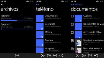 Microsoft publica 'Archivos', su explorador de archivos oficial para Windows Phone 8.1