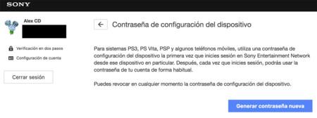 Verificación dos pasos PSN