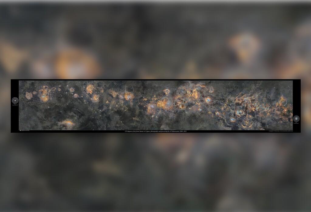 Esta alucinante fotografía de la Vía Láctea contiene 20 millones de estrellas visible y se ha tardado 12 años en hacer