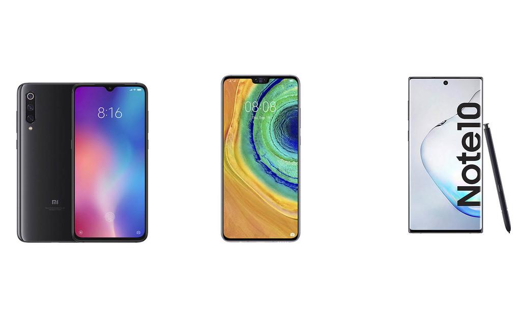 Huawei Mate 30 vs Samsung℗ Galaxy℗ Note 10 vs OnePlus℗ 7 Pro y compañía: así compite este nuevo rival en la gama alta