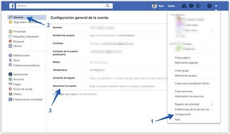 Facebook Desactivar Cuenta
