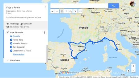 Viaje Vuelta