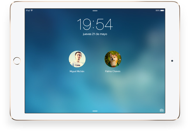 Mockup de iOs 9 en el iPad Air 2
