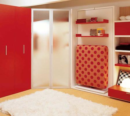 Ahorrando espacio en dormitorios juveniles