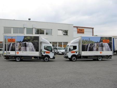 Dos camiones eléctricos Renault Maxity en Toulouse