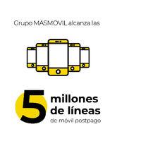 El Grupo MásMóvil ha superado ya los 5 millones de líneas móviles de contrato