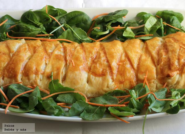 Trenza de bonito del norte y queso crema, el aperitivo ideal para compartir