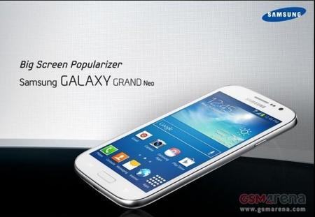 Se filtran algunos detalles del Galaxy Grand Neo, el próximo de Samsung