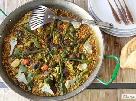 Receta de arroz con verduras: cómo hacer la mejor paella vegana