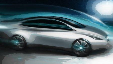 Boceto del primer coche eléctrico de Infiniti