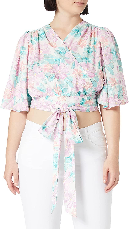 NA-KD Flowy Wrap Blouse Blusas para Mujer