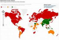 Mapa de la recesión económica