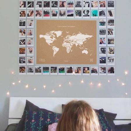 Mapa del mundo en corcho