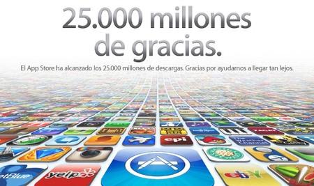 La App Store llega a las 25 mil millones de descargas