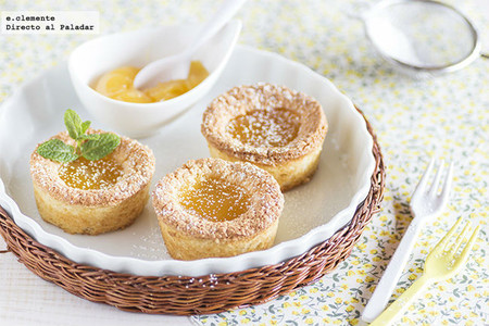 Financiers con lemon curd. Receta