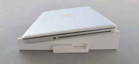 Un soporte para portátil práctico, ligero y plegable