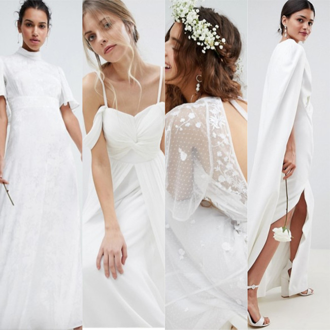 9 vestidos de novia perfectos por menos de 300 euros en Asos