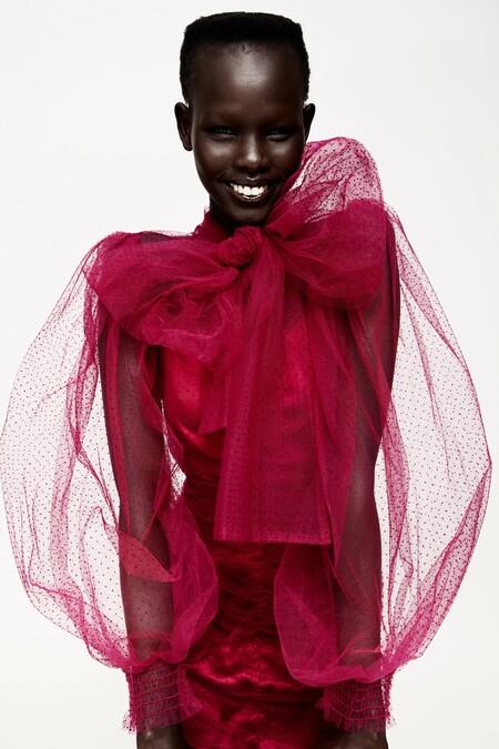 Zara Vestido Tul Plumeti 02