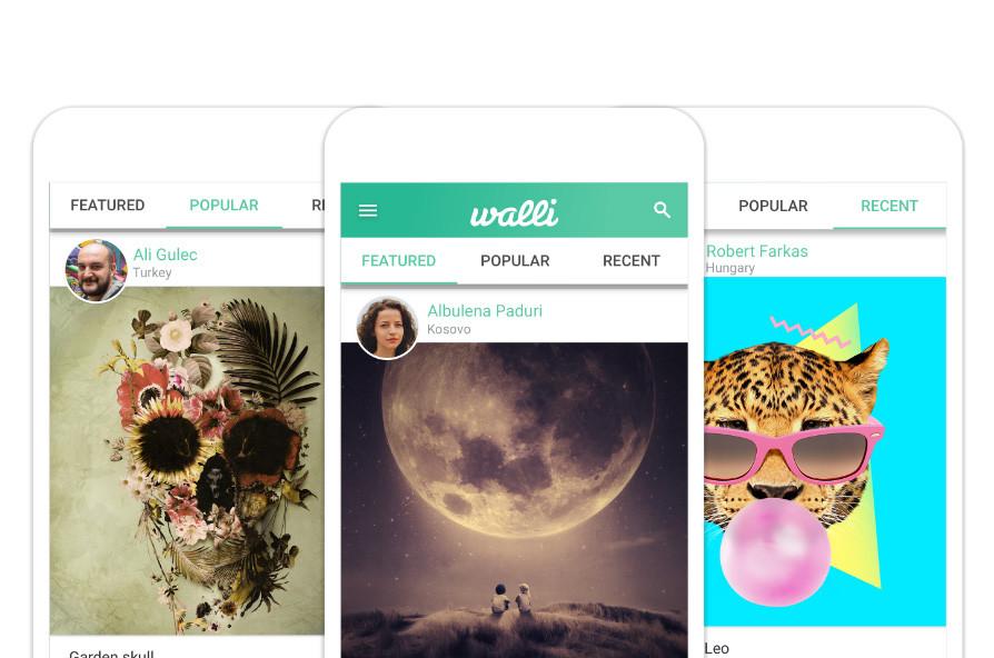 Walli, una app con fondos de pantalla para el móvil gratis creados por artistas de todo el mundo