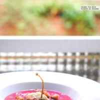 Sopa fría de remolacha con arenque en salazón. Receta de inspiración escandinava