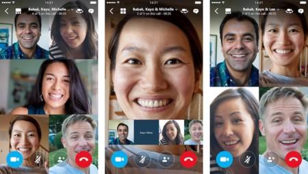 Skype permite ahora hasta 25 personas en sus videoconferencias de iOS