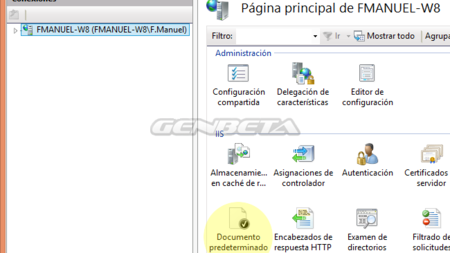 Panel administración IIS en Windows 8/8.1