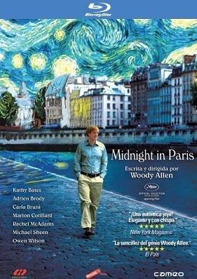 Cartel del bluray español de Midnight in Pais