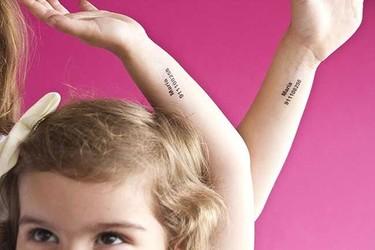 Telttoo: el teléfono de los padres en tatuajes temporales para los peques