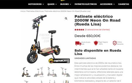 Patinete Electrico Neon