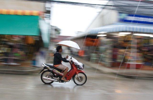 Moto en movimiento