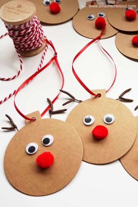 Manualidades Navidad Etiquetas Reno
