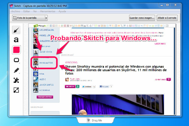 Skitch en Windows