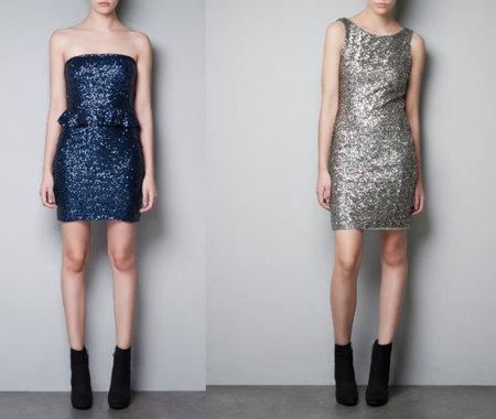 Vestido de lentejuelas de Zara