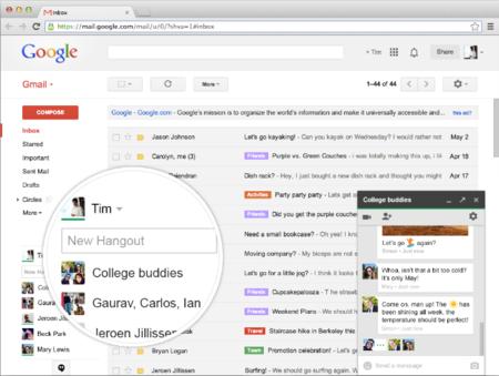 google hangouts chat mensajería instantánea