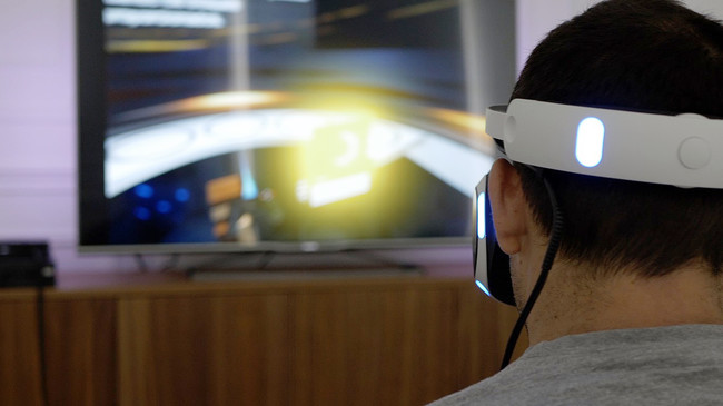 Jugando a PlayStation VR