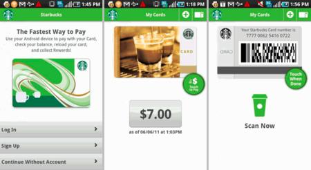 Aplicación oficial de Starbucks para Android