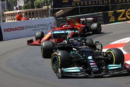 Hamilton Sainz Monaco F1 2021