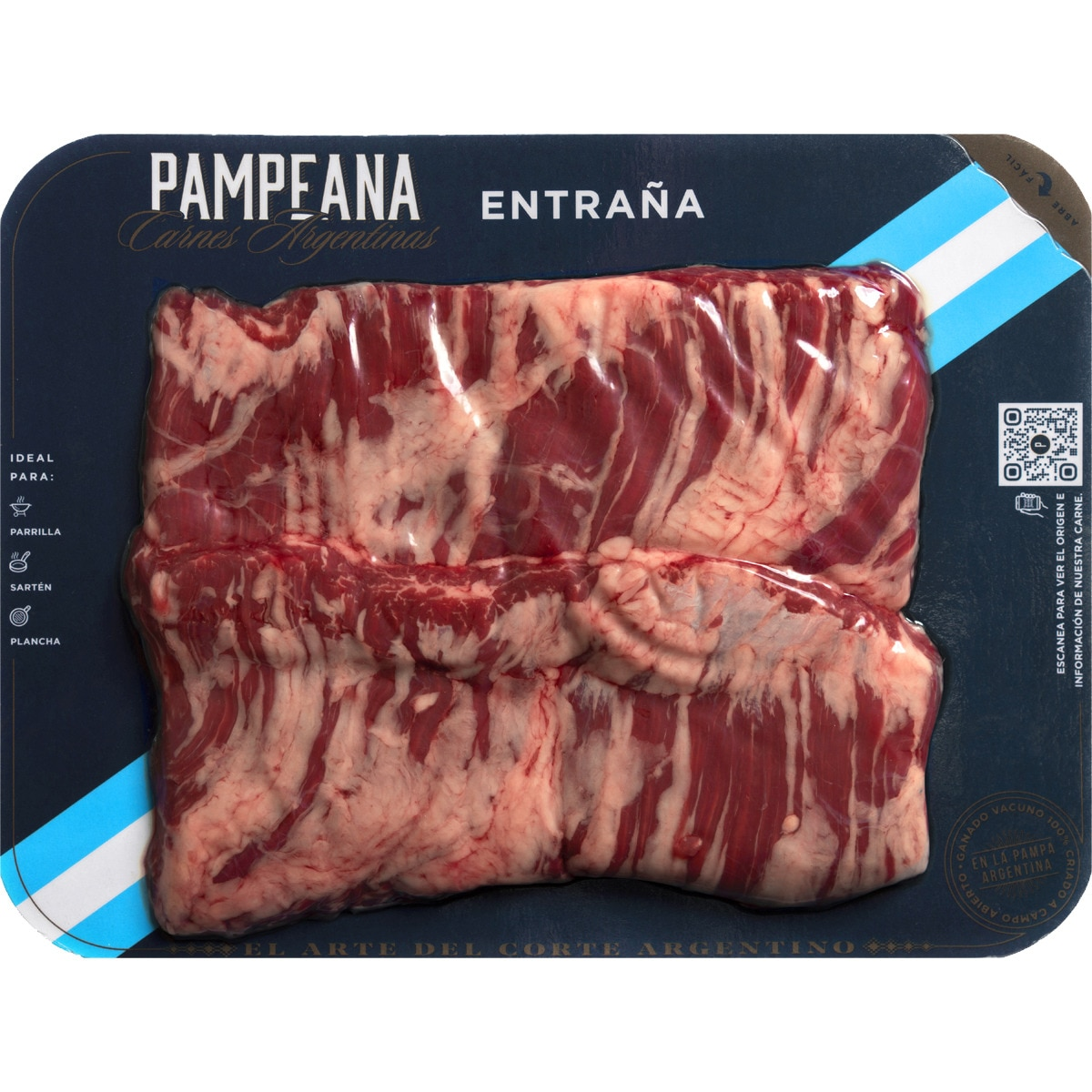 PAMPEANA novillo argentino entraña peso aproximado bandeja 400 g