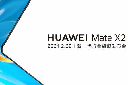 El Huawei Mate X2 ya tiene fecha de presentación: el primer plegable de 2021 llega el 22 de febrero