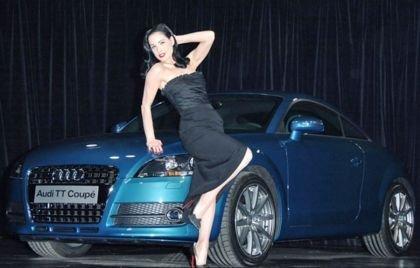 Dita Von Teese presenta el Audi TT en el Reino Unido