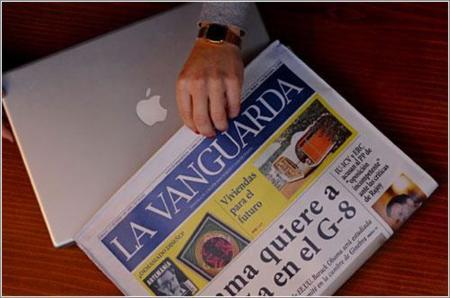 Funda-periódico para evitar robos