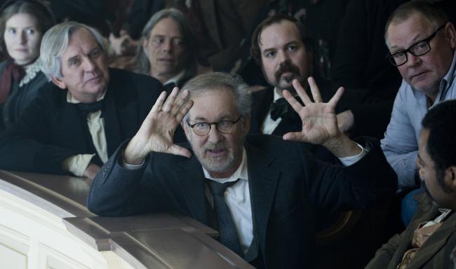 Steven Spielberg en el rodaje de 'Lincoln'