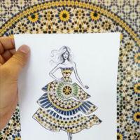 Así transforma la ciudad unos bocetos de moda en los diseños más bellos