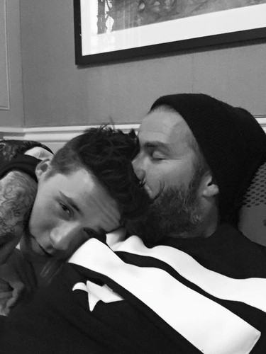 David Beckham, ese papá sobreprotector