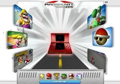 Mario Kart DS: web abierta