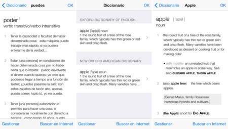 Diccionario iOS 7