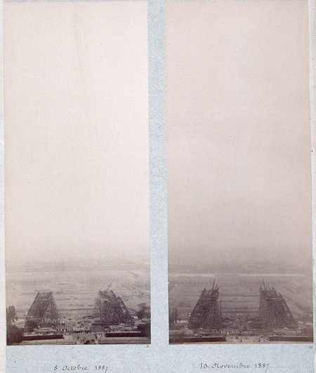 Public Domain Images Eiffel Tower Construction 1800s 0001
